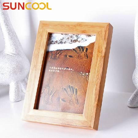 阳光谷 家饰竹子相像框简约5寸加厚带支架桌墙面照片架子   YZJX1005