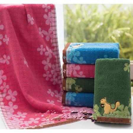 孚日洁玉毛巾 自然之恋纯棉卡通小松鼠毛巾 1502F 新款
