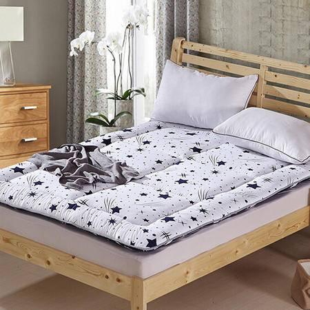 天囍坊超柔黑白ab版床褥垫软床垫可折叠床护垫床双人加厚