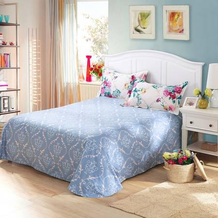 天囍坊纯棉圆角床单 单人全棉单件被单 床上用品