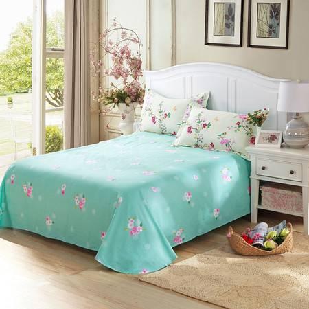 天囍坊纯棉圆角床单双人全棉单件被单 床上用品160*230cm