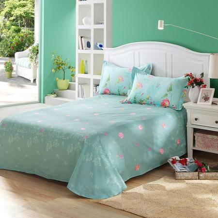 天囍坊100%纯棉圆角床单双人全棉单件被单 床上用品230*250cm