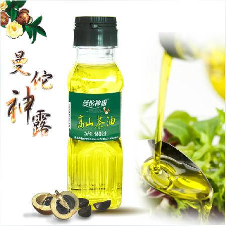 曼佗神露高山茶油 山茶油 油茶籽油 非转基因山茶油 食用油 140ml精致小巧单瓶装