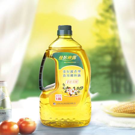【新品上市】非转基因 曼佗神露 浓香型食用调和油 非转基因 大豆菜籽芝麻山茶食用调和油1.8L装