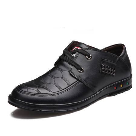 男鞋春季男士休闲皮鞋真皮英伦日常休闲鞋潮流手工低帮鞋