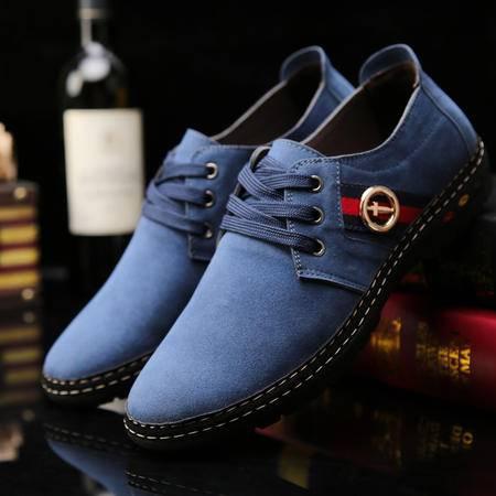 春秋商务男士休闲鞋豆豆鞋英伦风格潮流行男鞋子运动小皮鞋单鞋子