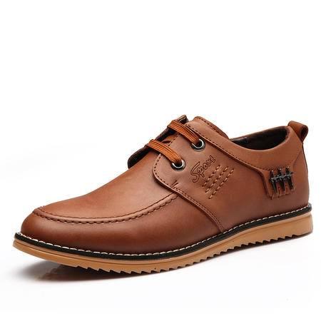 正品男鞋休闲真皮鞋男士春秋商务正装英伦日常圆头牛皮单鞋