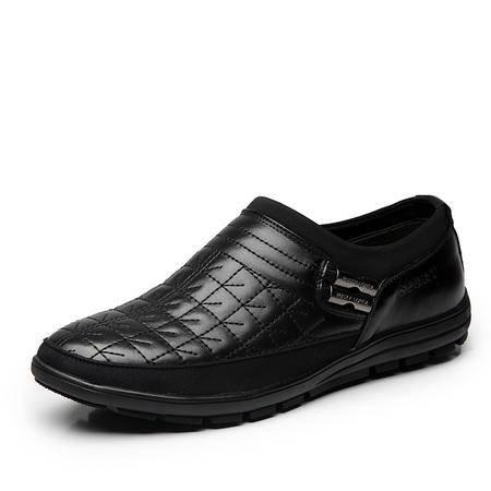 春秋新品日常休闲男鞋套脚皮鞋男士休闲鞋舒适耐磨流行男鞋
