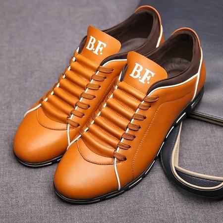 春夏真皮头层牛皮低帮男鞋子时尚潮流休闲鞋板鞋透气