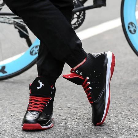 凯王帝 蓝球鞋高帮男士运动鞋男鞋透气防滑耐磨减震学生战靴