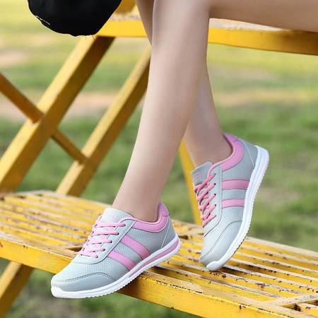 凯王帝 运动鞋女韩版秋季平底跑步鞋女轻便跑鞋旅游鞋学生休闲鞋子阿甘鞋