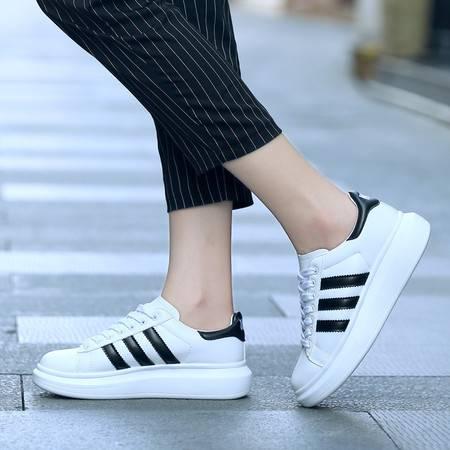 凯王帝 春秋韩版松糕鞋小白鞋女运动休闲鞋厚底板鞋女鞋