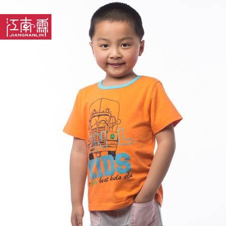 江南霖童装夏款男童纯棉T恤中大童圆领短袖T恤 JBXZ0103