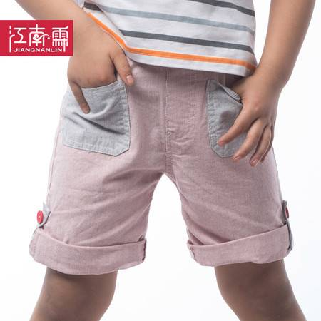 江南霖童装男童色织条纹全棉短裤JBXS3601