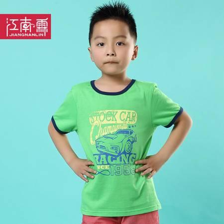 江南霖童装男童全棉短袖T恤中大童夏季印花老爷车T恤JCXZ0105