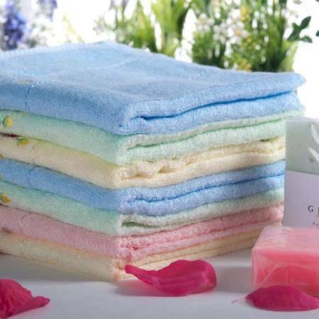 Grace 洁丽雅 素色绣花竹纤维美容巾面巾毛巾 6090