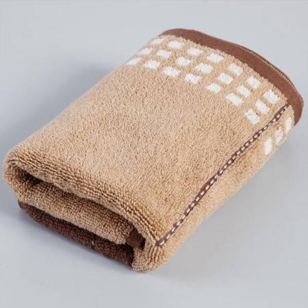 Grace 洁丽雅 全棉小格穿线毛巾男士面巾 6106