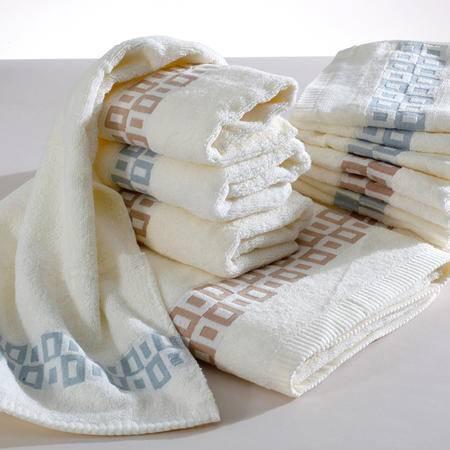 Gol高乐 纯棉提花缎档三件套 方巾毛巾浴巾  5306