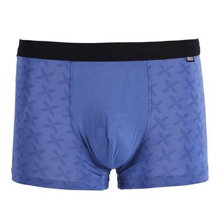 Grace 洁丽雅 男士人棉平脚内裤(二条装)15130  颜色随机