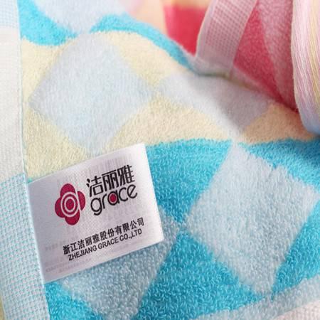 Grace 洁丽雅 纯棉强吸水特柔面巾毛巾(五条装) 8701-5颜色随机