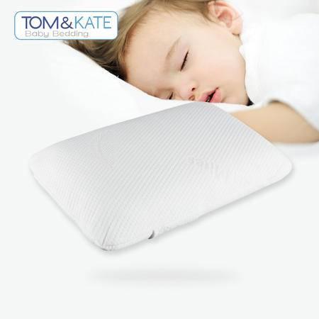 TOM&KATE 汤姆·凯特天然泰国乳胶枕儿童平枕L型 枕头/枕芯/按摩枕/保健枕
