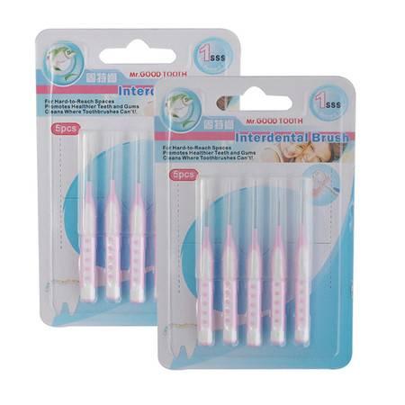 固特齿 I型牙间刷0.7mm-1.5mm牙缝刷齿间刷5支装*2   10支