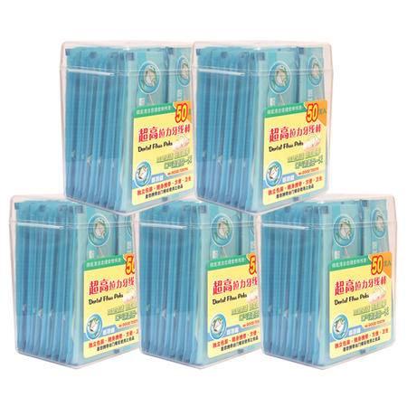 Mr.GOOD TOOTH/固特齿圆线护理牙线独立包装50支细滑牙线棒*5盒