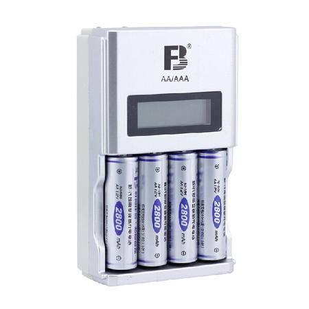 沣标/FB FB918液晶显示充电套装 智能快速充电器配5号2800毫安电池4节