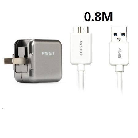 品胜 2A充电头+USB3.0 数据线0.8米充电线 三星S5 Note4 Note3 9006v
