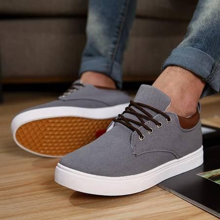 新款优选男士低帮休闲鞋男 休闲帆布内增高 板鞋 潮款休闲鞋M-802款