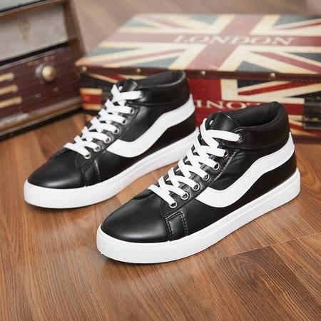 款男士休闲鞋韩版时尚运动板鞋 潮流帆布高帮皮鞋子M-508款