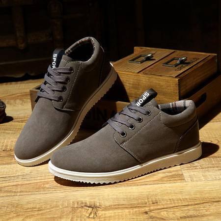 男士休闲鞋反绒英伦潮流潮鞋户外学生运动板鞋男鞋子1199款