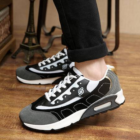 时尚男鞋  韩版潮流男板鞋运动透气休闲鞋男士网布跑步鞋1801款