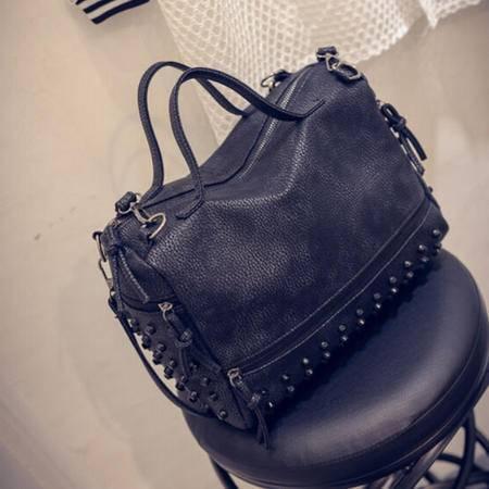 新款韩版风范女包时尚单肩包女士手提包休闲pu柳钉大包包
