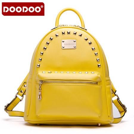 包包女士双肩包女铆钉学院风书包背包女大包大牌D5005