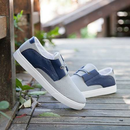 HD男士韩版网鞋 夏季新款时尚男鞋板鞋 网面透气休闲鞋男款F16款