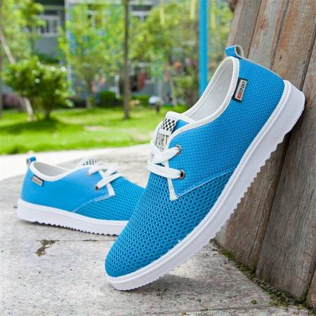 HD2016新款春夏季镂空男鞋网鞋 男网布鞋透气休闲鞋板鞋男士F17款