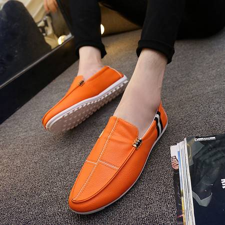 HDHD秋夏季新品单鞋男士韩版豆豆鞋皮鞋男鞋休闲单鞋子