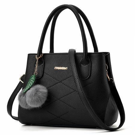 DFMP包包2016夏季新款韩版手提包女大包休闲单肩包斜挎黑色贝壳包
