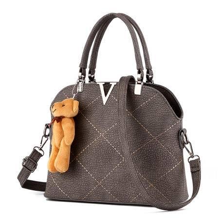 DFMP2016新款女包绣线女包手提包贝壳包单肩斜皮包包