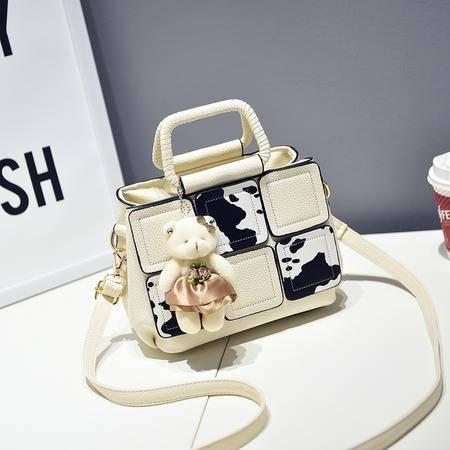 DFMP2016新款包包手提包小熊印花斜挎包小方包定型女士包