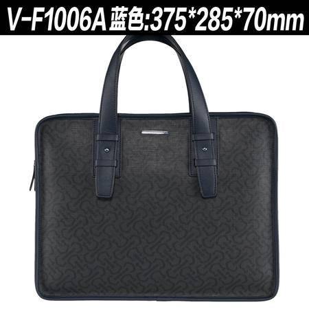 威登保罗  男士手提包简约横款商务休闲男包 新款单肩时尚男包VF1006-2
