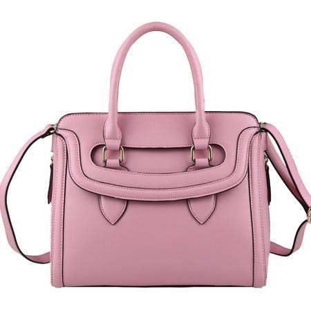 VOCCUE新款潮流时尚女式包笑脸女包包定型包单肩手提斜跨包ol(粉红色)