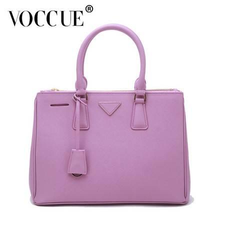 VOCCUE新款欧美大牌间谍包杀手包女士包包牛皮女包手提包包邮(紫罗兰)