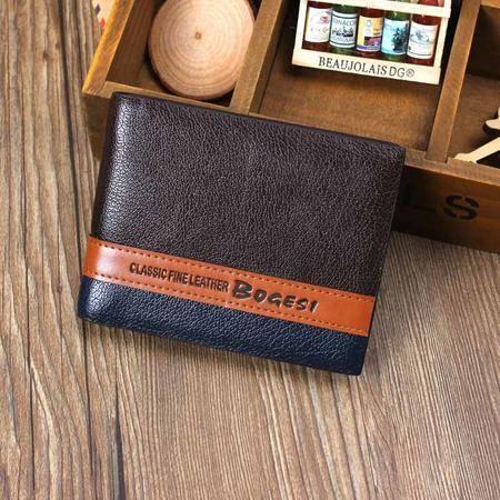 伯戈斯bogesi真皮男士钱包/商务休闲长款西装钱夹票夹BGS-1-2