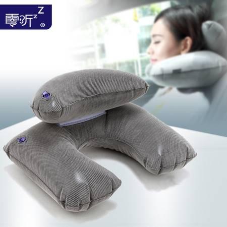 零听新月充气颈枕吹气u型枕 旅行枕头U枕颈椎枕飞行护颈枕脖子枕