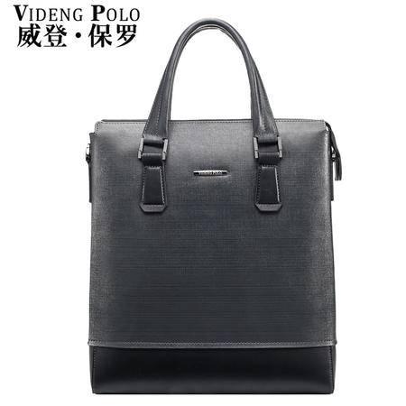 威登保罗男包男士牛皮男手提包单肩包斜挎包商务休闲背包皮包包-2