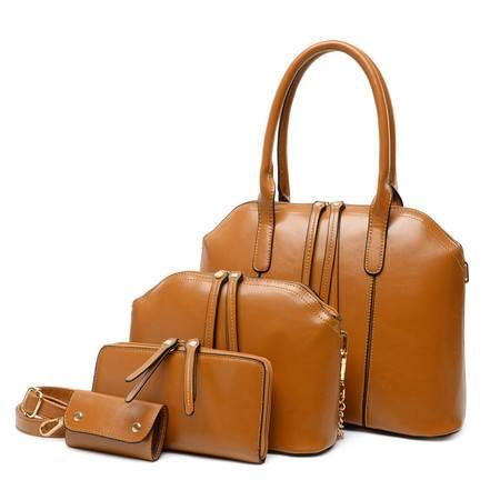 女包冬款油蜡皮子母包四件套女士包 手提包-2
