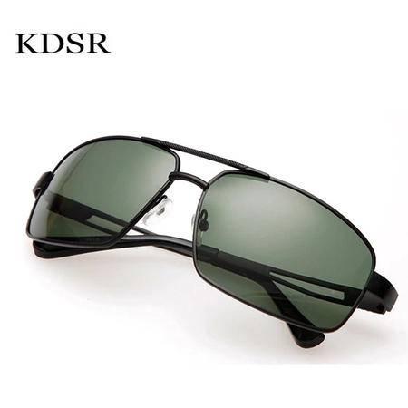 卡迪赛儿偏光太阳镜司机驾车眼镜男士金属大框眼镜墨镜