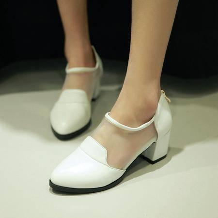 明星同款潮流学院风女鞋时尚网纱百搭小单鞋 女 舒适女单鞋